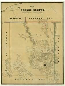 map of uvalde map of uvalde county the portal to history