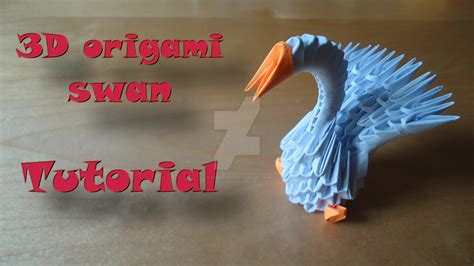 How To Make An Origami Swan 3d - how to make a 3d origami swan model 1 by ideando on