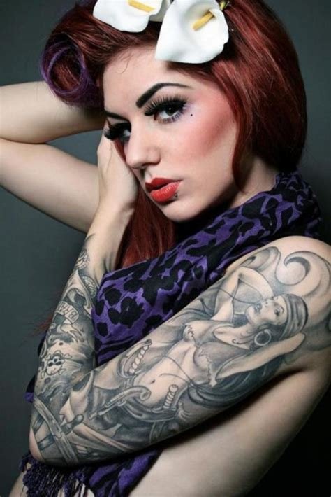 girls with sleeve tattoos 30 cool sleeve tattoos for creativefan