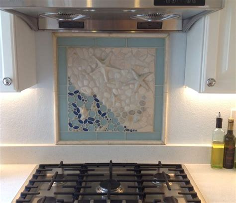 unique stone tile backsplash ideas put together to try out a custom ocean themed backsplash mural with stone rubble