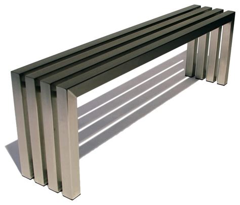 indoor metal benches linear bench stainless steel bench by sarabi studio