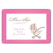 baby shower registry cards template baby carriage on field pink shower invitations paperstyle