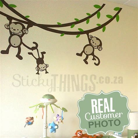 monkey nursery wall sticker stickythings co za