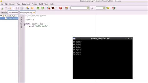 tutorial geany linux raspberry pi tutorial 3 hello world geany and python