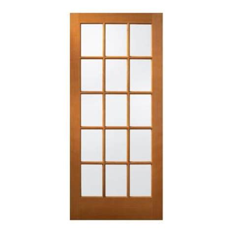 15 Light Exterior Door Jeld Wen 36 In X 80 In 15 Lite Unfinished Hemlock Wood Front Door Slab 5330 0 The Home Depot