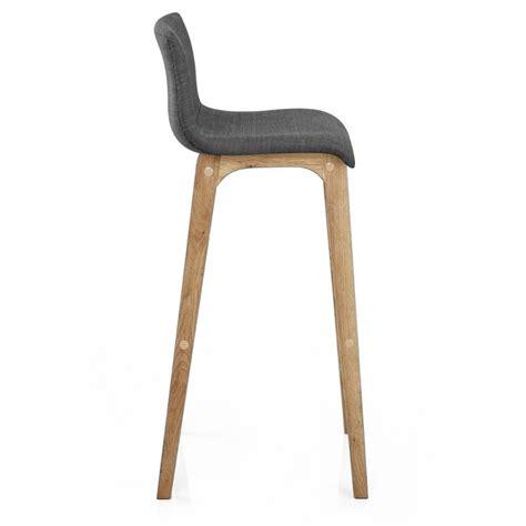 taburete de madera taburete drift con estructura en madera y asiento tapizado