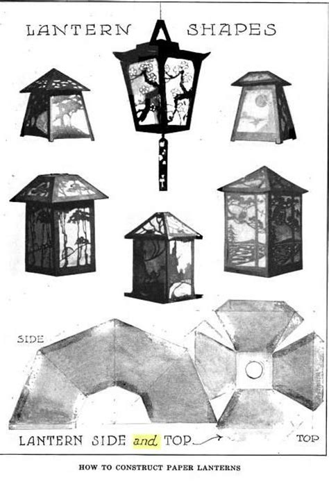 paper lantern template eiffel pinterest book shape