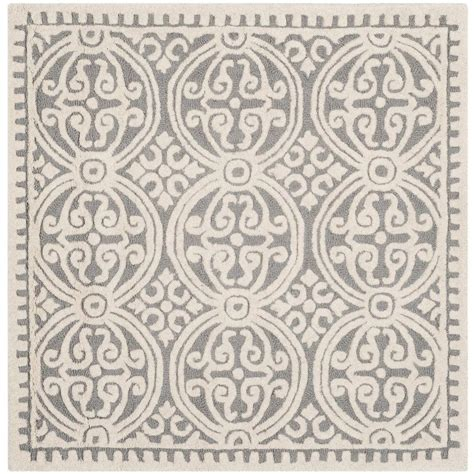 10 ft square wool rug safavieh cambridge silver ivory 10 ft x 10 ft square