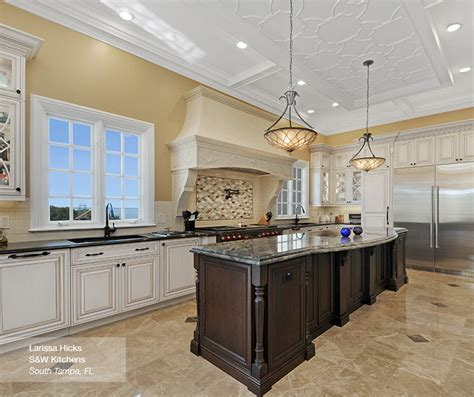 traditional kitchen color schemes traditional kitchen with contrasting colors omega