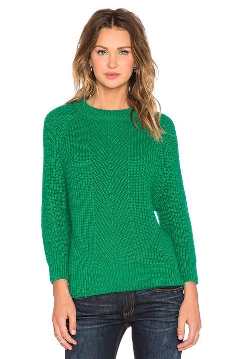 Sweater Chelsea 2015 lyst demylee chelsea sweater in green