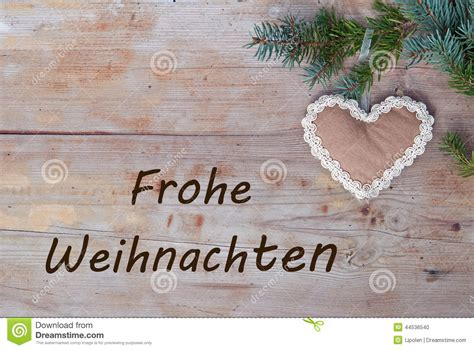 natural christmas   german frohe weihnachten stock photo image