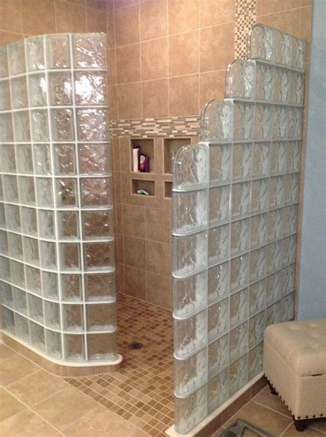 glass block bathroom ideas glass block shower walk in shower designs innovate
