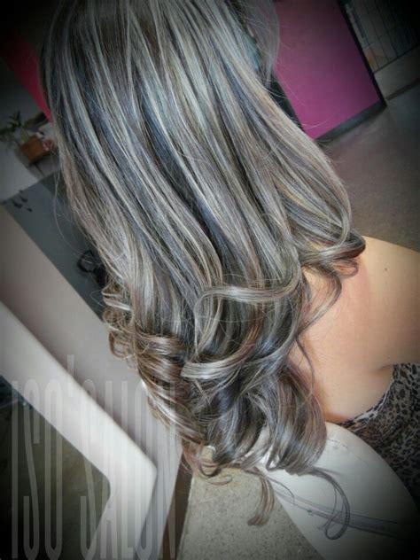 more dramatic my style pinterest hair coloring hair mechas plata iso salon pelo de verano pinterest