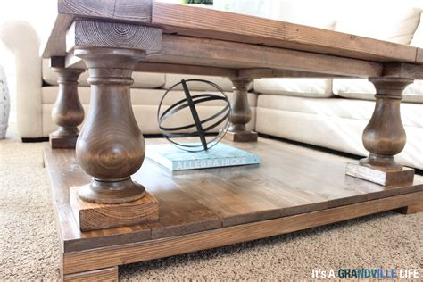 balustrade coffee table legs it s a grandville diy balustrade coffee table