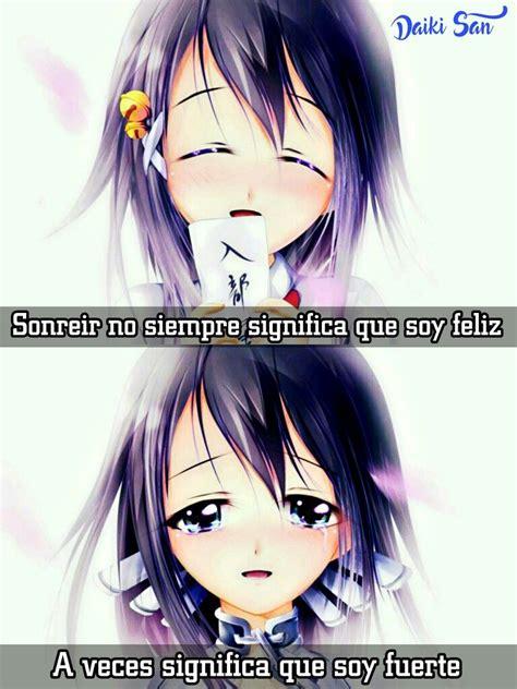 imagenes con frases que si soy fuerte daiki san frases anime sonreir no siempre significa que