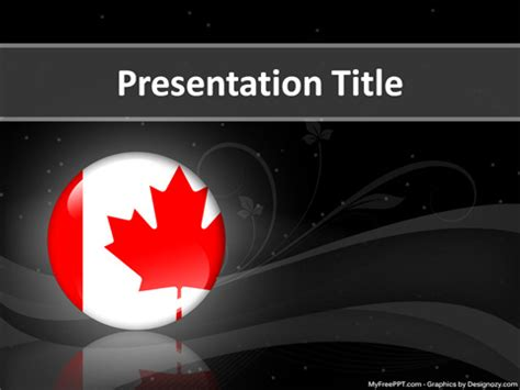 canada powerpoint template free election powerpoint templates myfreeppt