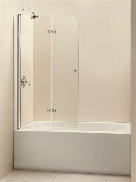 glass bathtub shower doors dreamline aquafold 36 quot frameless hinged tub door clear 1