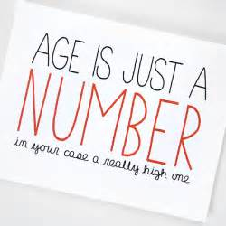 birthday card age is just a number by julieannart on etsy
