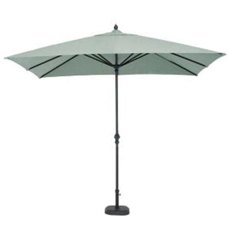 Martha Stewart Patio Umbrellas Martha Stewart Living Bellaire 9 Ft X 6 Ft Patio Umbrella In Dusty Blue Dyflo Umb The Home Depot