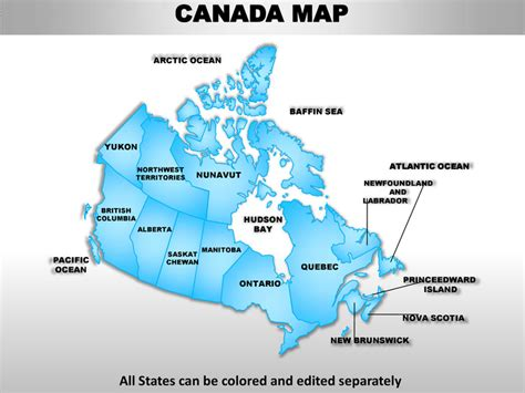 us and canada map for powerpoint canada country editable powerpoint maps with states and