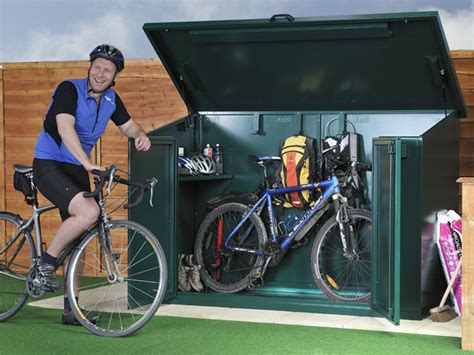 Bike Shed 4 Bikes by Metal Bike Storage Shed For 4 Bikes Ebay
