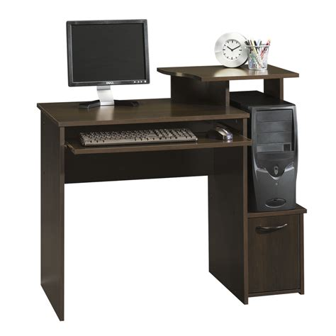 cherry computer desks shop sauder beginnings cinnamon cherry computer desk at