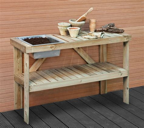 wood potting benches potting bench