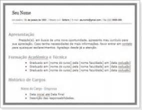 modelo de curr 237 culo profissional 090 em google docs seo