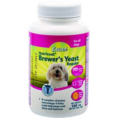 Excel Brewers Yeast Skin And Coat Care 140tablet Brewers Yeast For Dogs 150 Tab