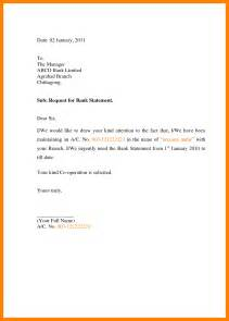 Six Month Bank Statement Letter 4 Letter To Bank For Statement Target Cashier