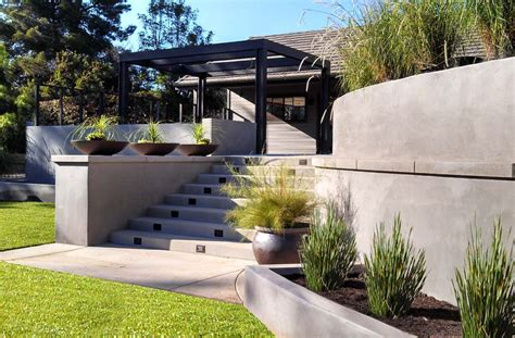 modern retaining wall modern garden wall crowdbuild for