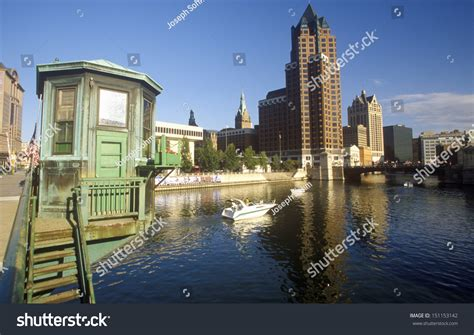 Simple Search Milwaukee Wisconsin Milwaukee Wisconsin Circa 2000 S Milwaukee Skyline With Menomonee River In