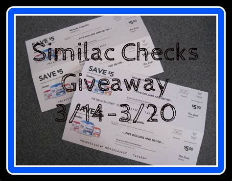 Similac Giveaway - ended sign up for similac checks plus 4 5 checks giveaway baby coupons and stuff