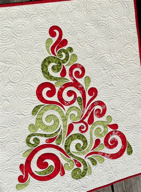 swirled christmas tree quilt pattern quilt pattern pdf swirled christmas tree applique wall