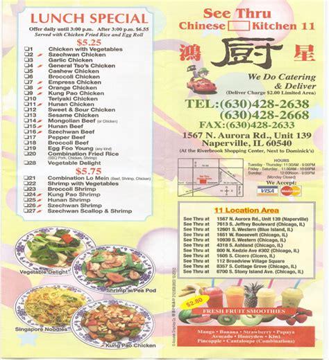 1567 N Aurora Rd Unit 139 Menu See Thru Chinese See Thru Kitchen Menu