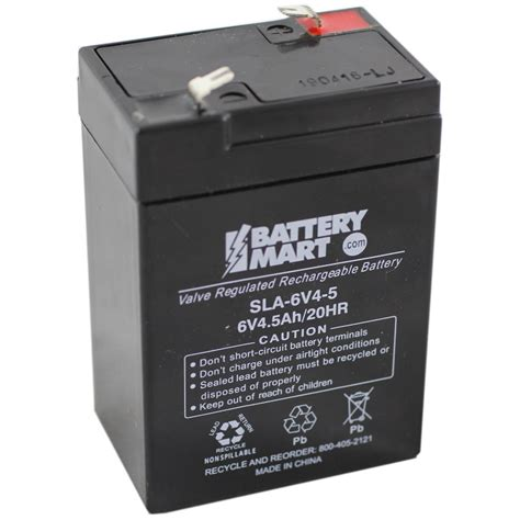 6v rechargeable battery and charger 6 volt 4 5 ah sealed lead acid rechargeable battery f1