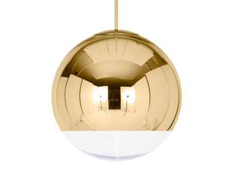 mirror pendant light buy the tom dixon mirror pendant light gold at nest co uk