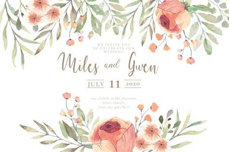 convite de casamento flores em aquarela convite de casamento flores de aquarela pronto para