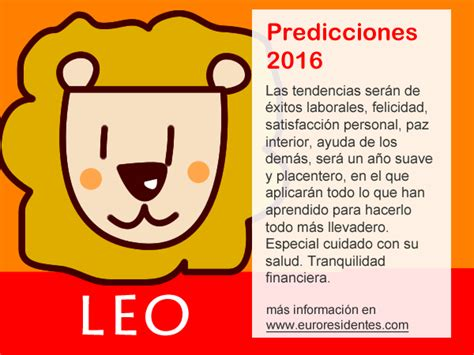 el horoscopo 2016 horscopos in hor 243 scopo leo 2016