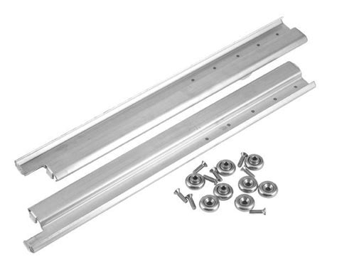 stainless steel drawer slides nz drawer slide glides pair w rollers 20 quot s s new 36370