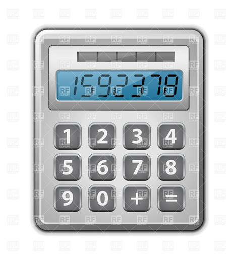 office calculator objects royalty free vector