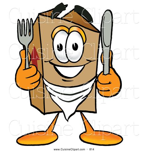 clipart cuisine cuisine clipart of a grinning cardboard box mascot