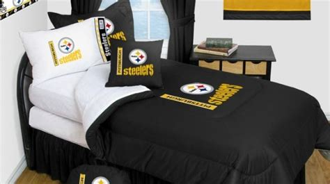 steelers bedroom set pittsburgh steelers bedding nfl comforter and sheet set combo bedding by sportskids llc