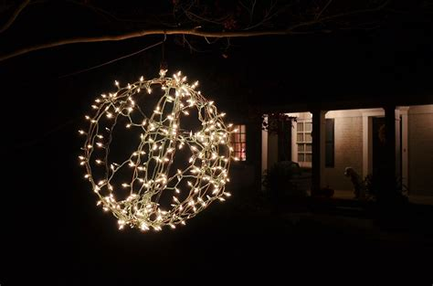 Lighted Christmas Balls by Non Chicken Wire Lighted Christmas Balls Redeem Your Ground