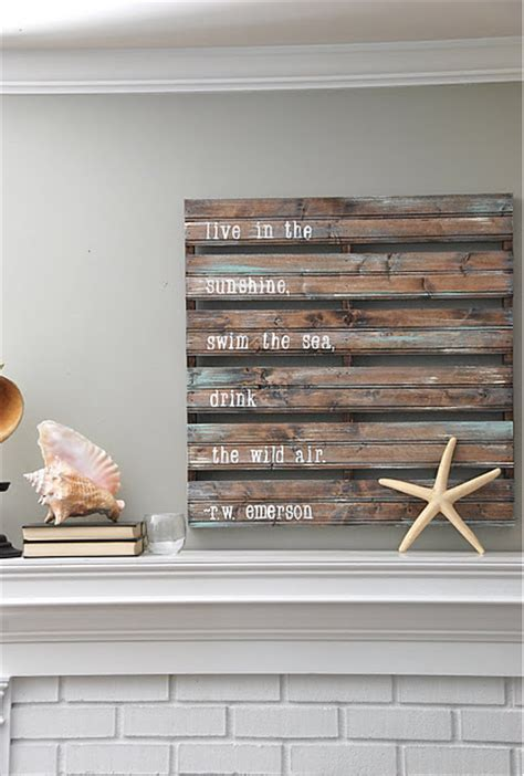 Decorating Ideas With Wood Pallets 10 Wood Pallet Decor Ideas