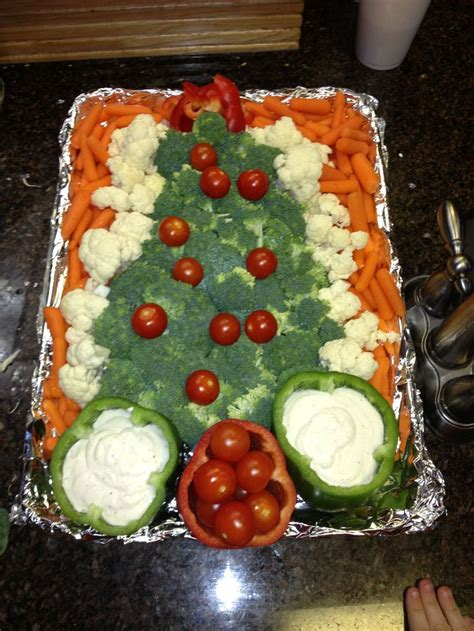 christmas tree veggie tray yumm o pinterest
