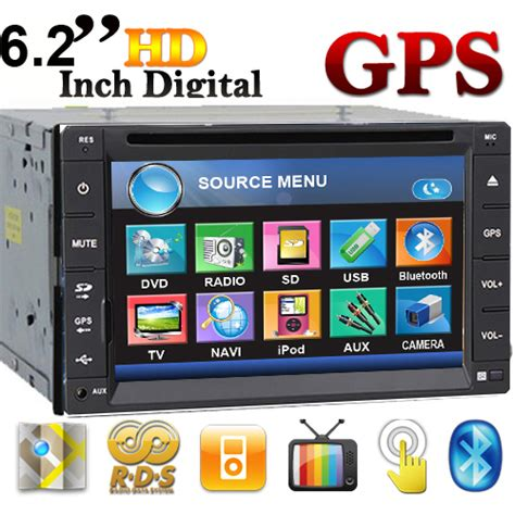 Tv Mobil Indash free 6 2 quot din gps navigation car dvd player stereo rds am fm radio in dash