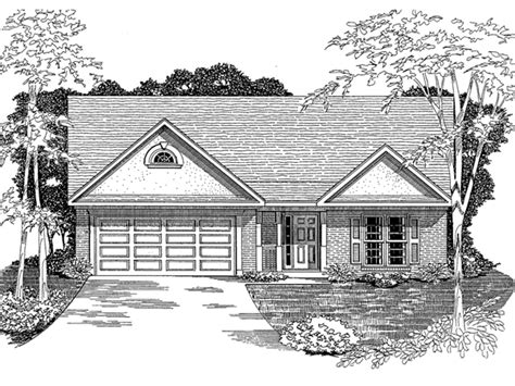 ranchwood traditional home plan   house plans