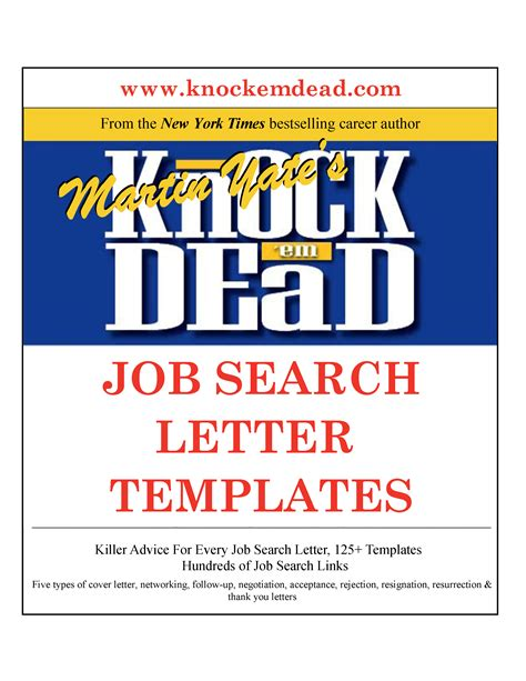 knock em dead cover letters pdf knock em dead search letter templates