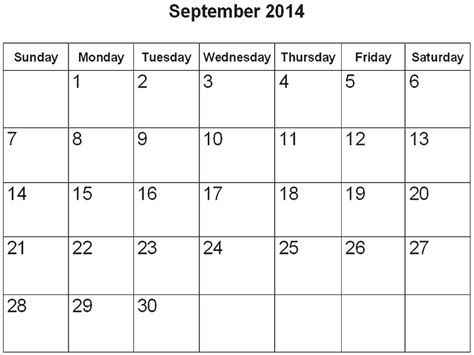 september 2014 calendar template september 2014 calendar search for spencer